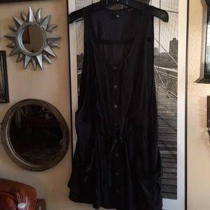 Anna sui Vest/ tunic dress 100% silk med